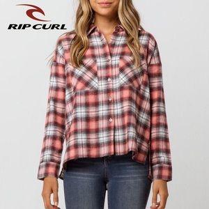 XS, S - Rip Curl Plaid Flannel Shirt